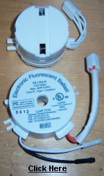 ceiling fan parts - ceiling fan light ballast